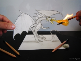 Little fire dragon. Работа Alessandro Diddi